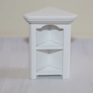 Corner book shelf, white