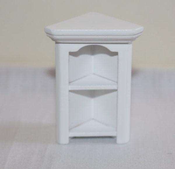 Corner book shelf, white
