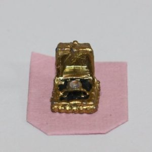 Gold diamond ring in case