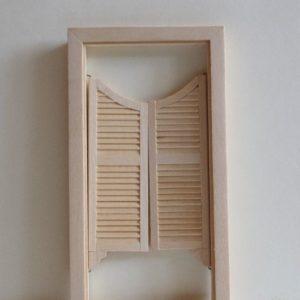 Swinging Door Double Raw Timber