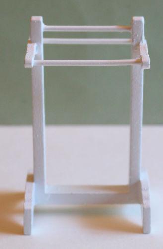 White Timber Towel Rail