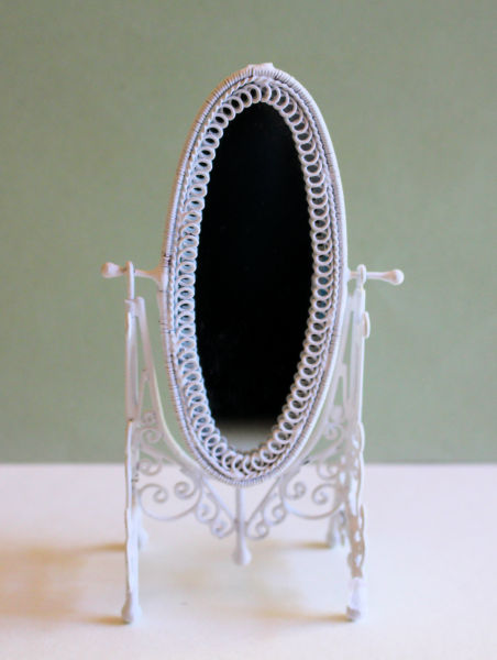 White Wire Cheval MIrror