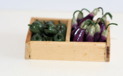 Eggplants and Green Peppers