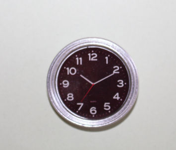 Wall  Clock  Round with Black Face