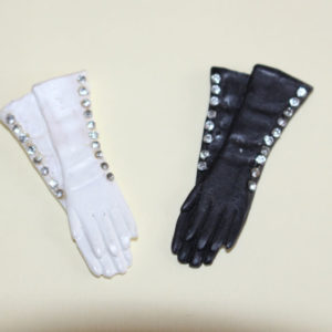 Gloves  - Pr. Black and White