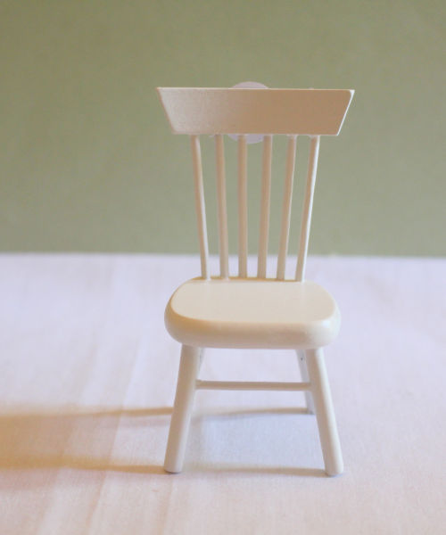 White Spindle Back Chair