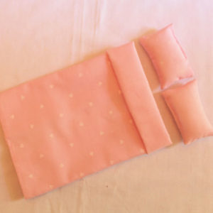 Bedspread/Doona - pale pink stripe and heart reversible