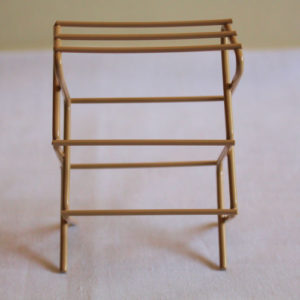 Beige Metal Clothes Stand