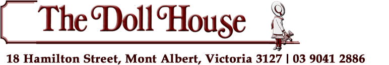 Australia's largest range of doll house miniatures, Dolls Houses, Dolls and Teddies